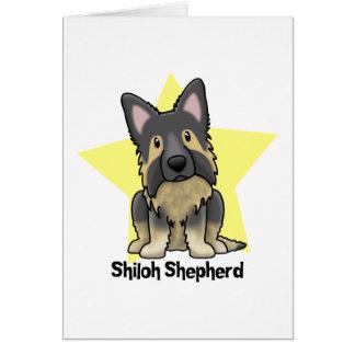 Kawaii Star Shiloh Shepherd Greeting Card