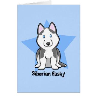 Kawaii Star Siberian Husky Card