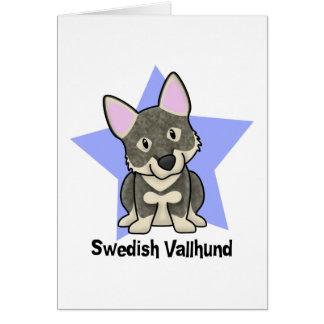 Kawaii Star Swedish Vallhund Card