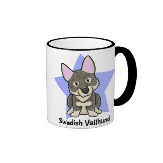 Kawaii Star Swedish Vallhund Ringer Mug