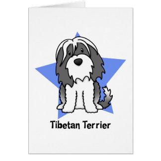 Kawaii Star Tibetan Terrier Card
