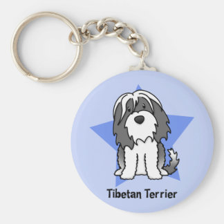 Kawaii Star Tibetan Terrier Keychain