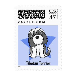 Kawaii Star Tibetan Terrier Stamp