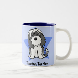 Kawaii Star Tibetan Terrier Two-Tone Coffee Mug