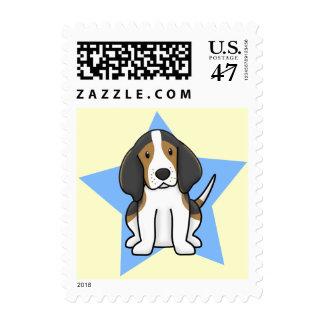 Kawaii Star Treeing Walker Coonhound Postage Stamp