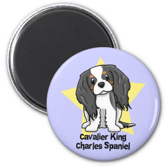 Kawaii Star Tricolor Cavalier King Charles Spaniel Refrigerator Magnets