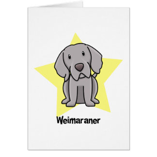 Kawaii Star Weimaraner Greeting Card