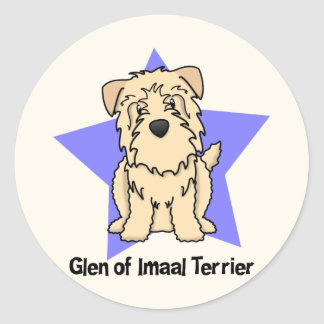 Kawaii Star Wheaten Glen of Imaal Terrier Classic Round Sticker