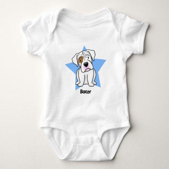 Kawaii Star White Boxer Baby Bodysuit