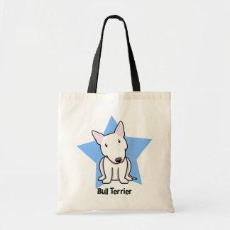 Kawaii Star White Bull Terrier Budget Tote Bag