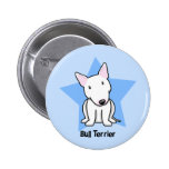 Kawaii Star White Bull Terrier Buttons