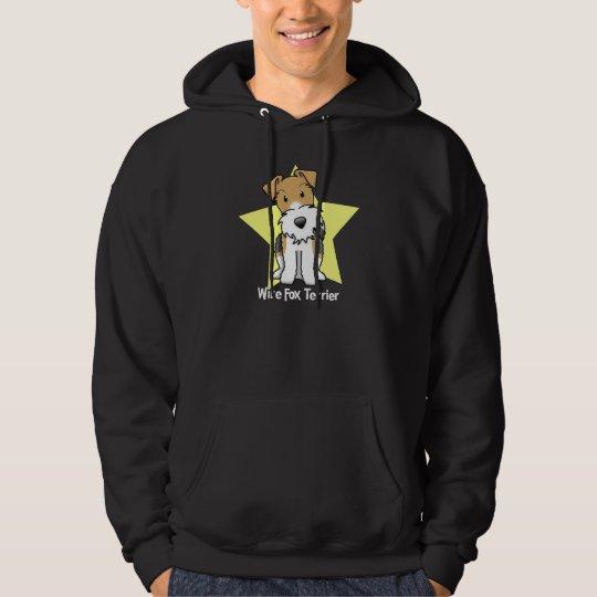 Kawaii Star Wire Fox Terrier Hoodie