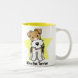 Kawaii Star Wire Fox Terrier Mugs