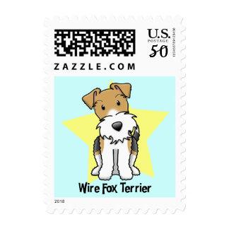 Kawaii Star Wire Fox Terrier Postage