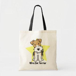 Kawaii Star Wire Fox Terrier Tote Bag