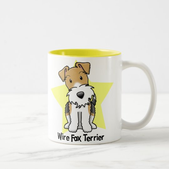 Kawaii Star Wire Fox Terrier Two-Tone Coffee Mug