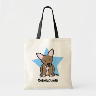 Kawaii Star Xoloitzcuintli Budget Tote Bag