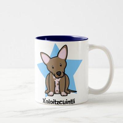 "Xoloitzcuintli ceramic cup mug /""I love/"" CA Mexican Hairless Dog"