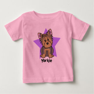 Kawaii Star Yorkshire Terrier Baby's Baby T-Shirt