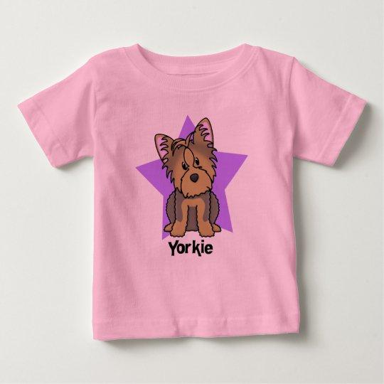 Kawaii Star Yorkshire Terrier Baby's Baby T-Shirt