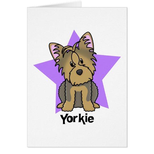 Kawaii Star Yorkshire Terrier Card