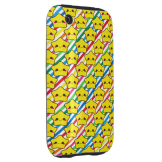 Kawaii Stars Rainbow Stripes iPhone 3 Tough Cases