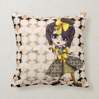 Kawaii Steampunk Girl Pillow