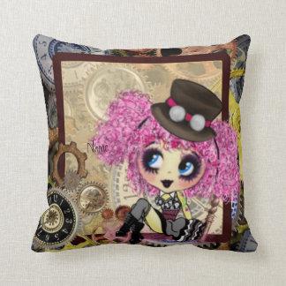 Kawaii Steampunk Girl Pillows