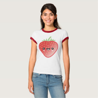 Kawaii Strawberry and Flowers T-Shirt