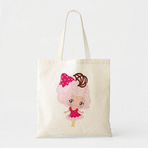 Kawaii Strawberry Delight Girl Canvas Bags