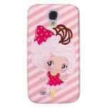 Kawaii Strawberry Delight Girl Samsung Galaxy S4 Cases