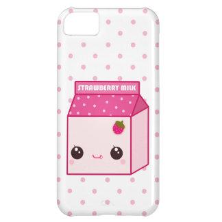 Kawaii strawberry milk carton cover for iPhone 5C