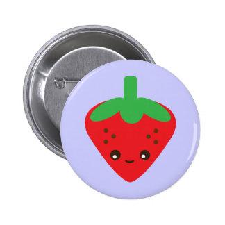 Kawaii Strawberry Pinback Button
