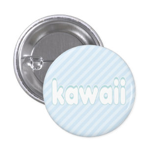 kawaii stripes button