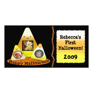 Kawaii Style Halloween Custom Photo Card