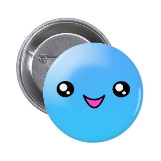 Kawaii Sugar Dots Blueberry Happy Face Button