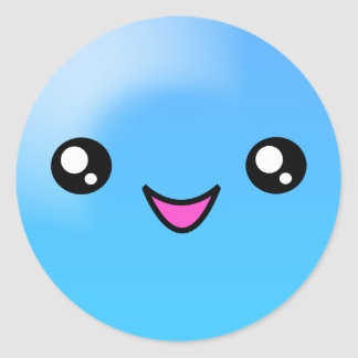 Kawaii Sugar Dots Blueberry Happy Face Sticker