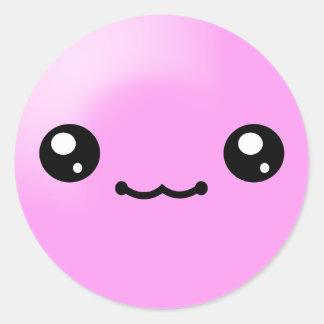 Kawaii Sugar Dots Bubble Gum Happy Face Sticker