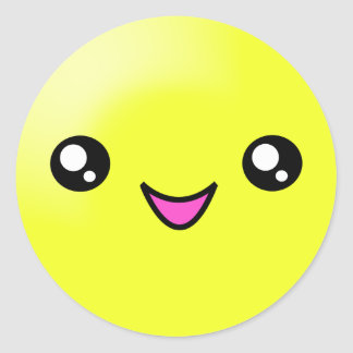 Kawaii Sugar Dots Lemon Happy Face Sticker