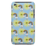 Kawaii Sun Cloud and Rainbow Pattern iPod Case-Mate Case