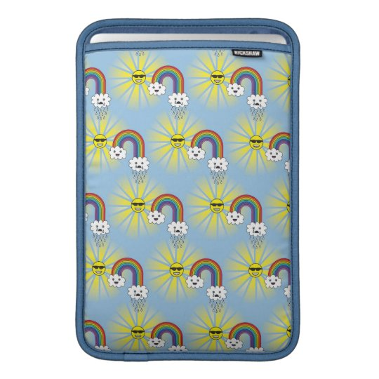Kawaii Sun Cloud and Rainbow Pattern MacBook Air Sleeve