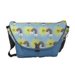 Kawaii Sun Cloud and Rainbow Pattern Messenger Bags