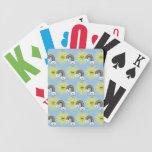 Kawaii Sun Cloud and Rainbow Pattern Playing Cards