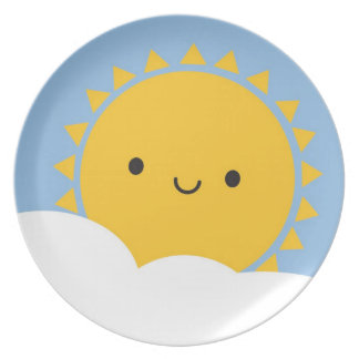 Kawaii Sun Dinner Plates