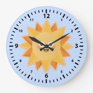 Kawaii Sun Large Clock