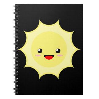Kawaii Sun Spiral Notebook