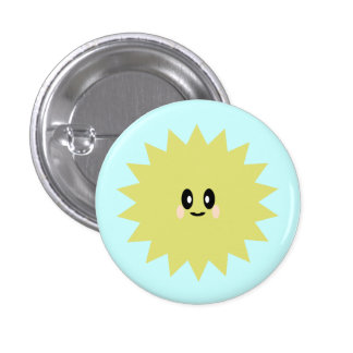 KAWAII SUN SUNSHINE CUTE HAPPY PIN BUTTON