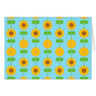 Kawaii Sunflowers Card