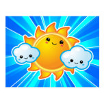 Kawaii Sunny Day Post Cards