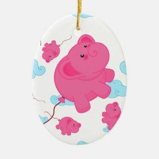 Kawaii Super Cute Flying Funny Elephant Balloon Ceramic Ornament